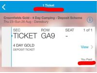 One Creamfields 4 Day Gold Camping Ticket