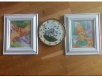 Winnie the pooh pictures and clock