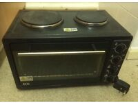 ECG electric worktop mini oven and grill with 2 hobs - need gone asap will take any offer
