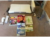 Nintendo Wii Console, pad, controller, nanchuk and selection of games.