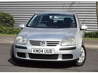 2004 VW GOLF 1.6 fsi SE SILVER 5 DOOR MANUAL PETROL CAR, FULL SERVICE HISTORY, ONE OWNER FROM NEW