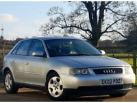 2002 52 Audi A3 1.9 TDI SE 5 Doors - Lady owner since New - Low Miles + Full Service History