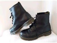 Men's DR MARTENS Steel Toe Boots, Size 11 - Excellent Condition