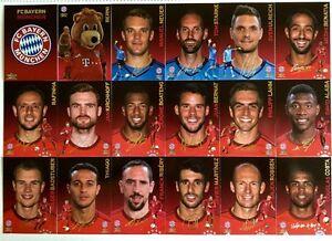 FC Bayern München 2016_Panini Trading Cards_offizielle Kollektion_4 Karten