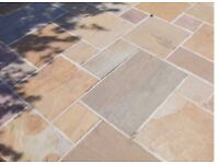 Indian sandstone patio paving