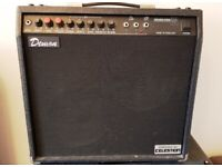 Very rare Made in England solid state ProAmplifiers Demon 45w twin Celestions trade swap