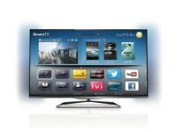 "Phillips 47"" Smart LED 3D TV - With Ambilight and Freeview!"