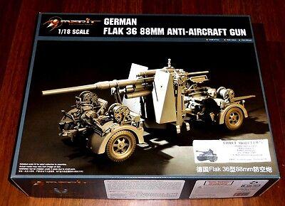 WWII german Flak 36 88mm Anti-Aircraft Gun im   Maßstab 1:18 Merit Neu 61701