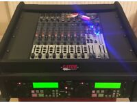 Behringer mixing desk with mp3/sd card player in gator case