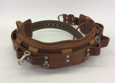 Bashlin Industries Linemans Safety Climbing Belt Size D26 473s Leather