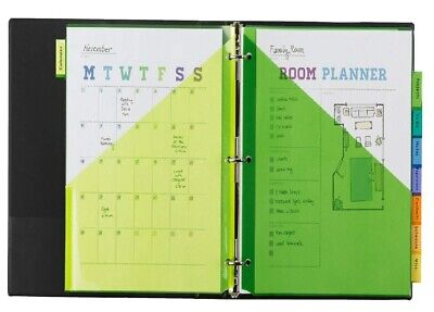 Avery 8-tab Plastic Binder Dividers With Pockets Insertable Multicolor Big Tabs