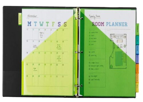 Avery 8-Tab Plastic Binder Dividers with Pockets, Insertable Multicolor Big Tabs