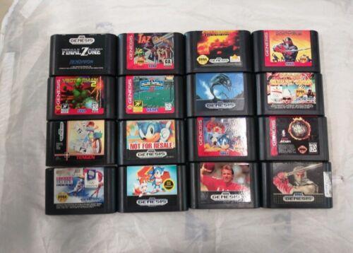 Lot of 16 Sega Genesis games.