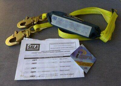 Dbi Sala 1245006 12 Ft. Force2 Shock Absorbing Web Lanyard Safety Climbing 2 Leg