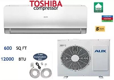 12000 Btu Ductless Air Conditioner  Heat Pump Mini Split 110V  1 Ton W  Kit