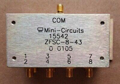 Mini-circuits 15542 Zfsc-8-43 8 Way Power Splittercombiner 10-1000 Mhz