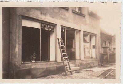 (F28998) Orig. Foto zerstörtes Geschäft von Josef Peter 1939