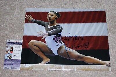 Simone Biles Signed 11X14 Photo Jsa Coa 2016 Rio Olympics Gold Medal Gymnast 1A