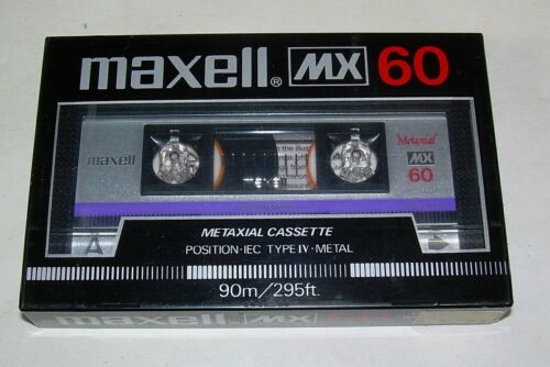 Maxell MX 60 Min Metaxial Audio Cassette Tape New Sealed