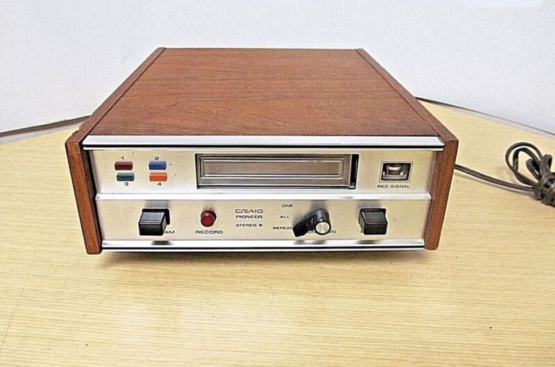 Craig Pioneer Stereo 8 Track Deck Player Recorder Model 3302