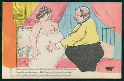 Nude Fat Women (art Xavier Sager nude fat bride woman can't have fun original 1910s)