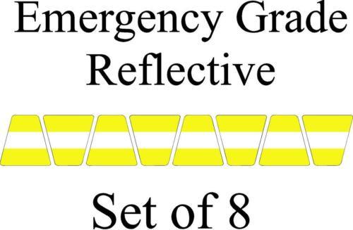 Lime w/ White Stripe HELMET TETS TETRAHEDRONS HELMET STICKER  EMT REFLECTIVE