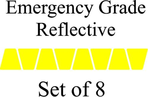Yellow HELMET TETS TETRAHEDRONS HELMET STICKER  EMT EMERGENCY GRADE REFLECTIVE