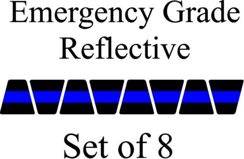Black w/ Blue Stripe HELMET TETS TETRAHEDRONS HELMET STICKER  EMT REFLECTIVE