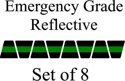 Black w/ Green Stripe HELMET TETS TETRAHEDRONS HELMET STICKER  EMT REFLECTIVE