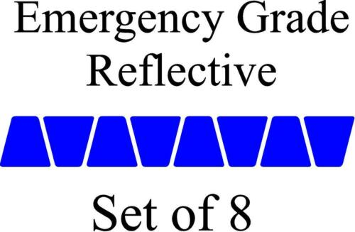 Blue HELMET TETS TETRAHEDRONS HELMET STICKER  EMT EMERGENCY GRADE REFLECTIVE