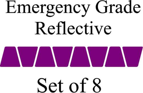 Purple HELMET TETS TETRAHEDRONS HELMET STICKER  EMT EMERGENCY GRADE REFLECTIVE