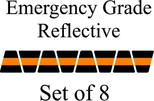 Black w/ Orange Stripe HELMET TETS TETRAHEDRONS HELMET STICKER  EMT REFLECTIVE