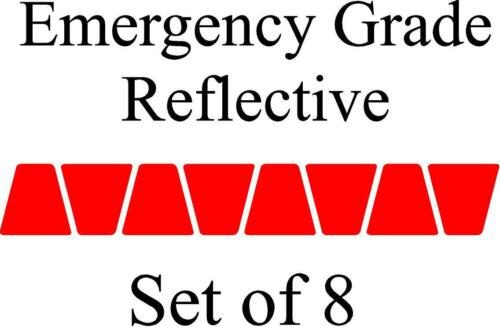 RED HELMET TETS TETRAHEDRONS HELMET STICKER  EMT EMERGENCY GRADE REFLECTIVE