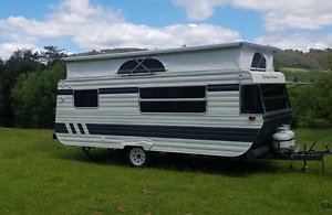 Caravan with double bed and bunks Penguin Central Coast Preview