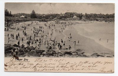 Australia 1905 multi franked PC of Coogee Bay sent to US