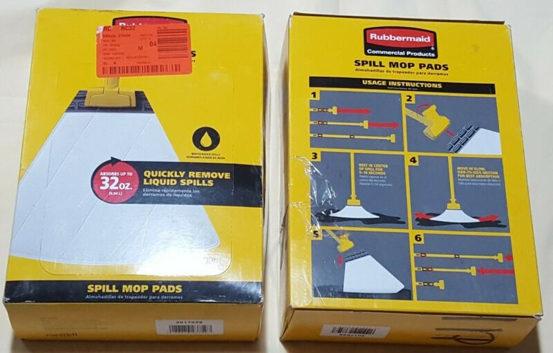 2 packs Rubbermaid Commercial Spill Mop Pads  Replacement Mop Head (20 count)
