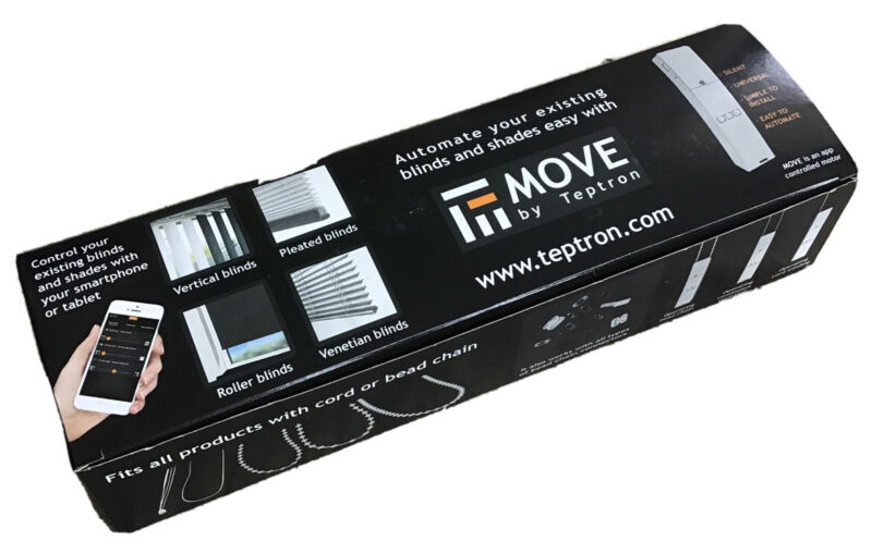 Teptron MOVE Automated Blind Shades Motorized Controller with APP Control