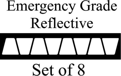 White HELMET TETS TETRAHEDRONS HELMET STICKER  EMT REFLECTIVE