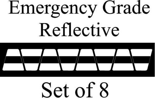 White  w/ Black Stripe HELMET TETS TETRAHEDRONS HELMET STICKER  EMT REFLECTIVE