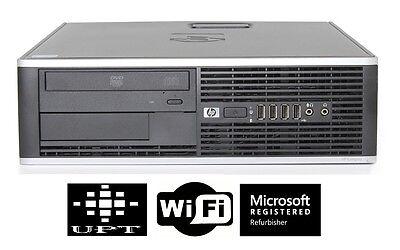 HP Desktop Computer 6000/8000 Windows 7 Pro Intel Core 2 Duo 3GHz 4GB WIFI ready