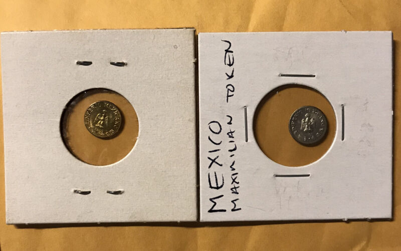 1865 MAXIMILIANO GOLD .5 GRAM & SILVER COIN LOT HARD TO FIND
