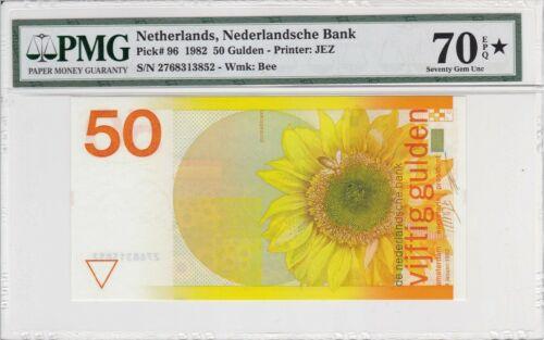 Netherlands 1982 50 Gulden P-96 PMG Superb Gem Unc 70* EPQ