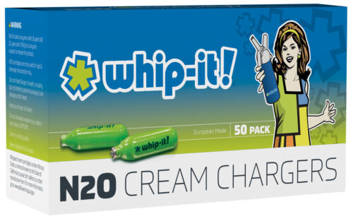 50 Whip Cream Chargers FREE SHIP EUROPEAN MADE. ORIGINAL BRAND