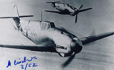 Luftwaffe WWII Ace Pilot Me-109 JG-52 Manfred Leisebein SIGNED PHOTO AUTOGRAPHED