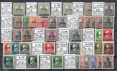 Saar * Sammlung aus MiNr 1 - 446 sortiert Mi€554
