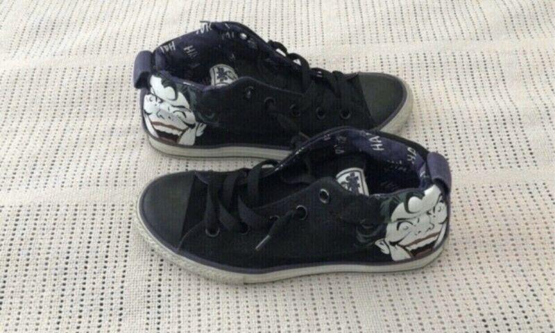 DC Joker Youth Converse Shoes ~ US 3~ UK 2.5 | Kids