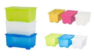Small Storage Boxes With Lids (Small Storage Boxes and Lids Toys Arts Craft Tools Office Stackable Desk)