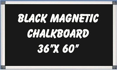 36 X 60 Aluminum Framed Black Magnetic Chalkboard Pen Tray Liquid Chalk Ok