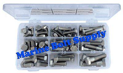 Type 316 Stainless Steel Hex Head Bolt Assortment Kit Marine Grade Stainless (316 Marine Grade Stainless Steel)