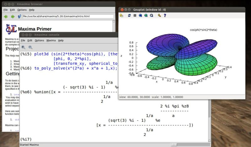 Maxima (Algebra, Trigonometry, and Calculus Math Software) Windows/Mac DVD